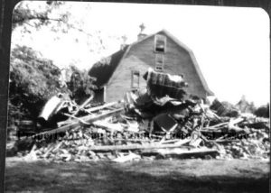 Bulldozed remains of Rose Hill mansion after fire in 1978.